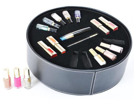 Packaging de luxe avec mousse recouverte de suédine pour L'Oréal