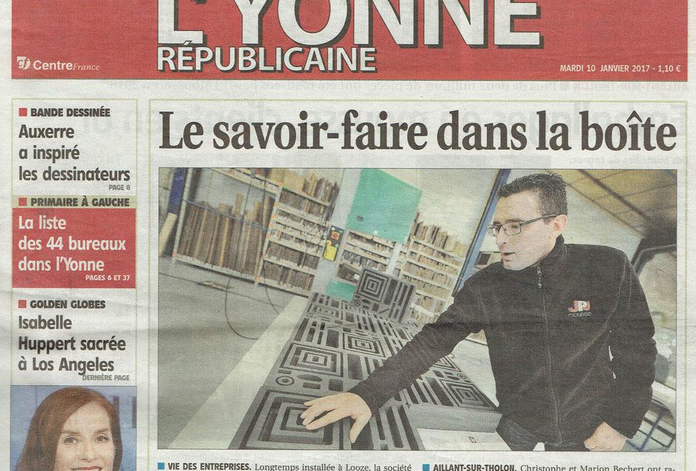 JPJ à la une de l'Yonne Républicaine
