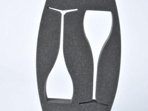 Calage en mousse pour emballage de verres à pied