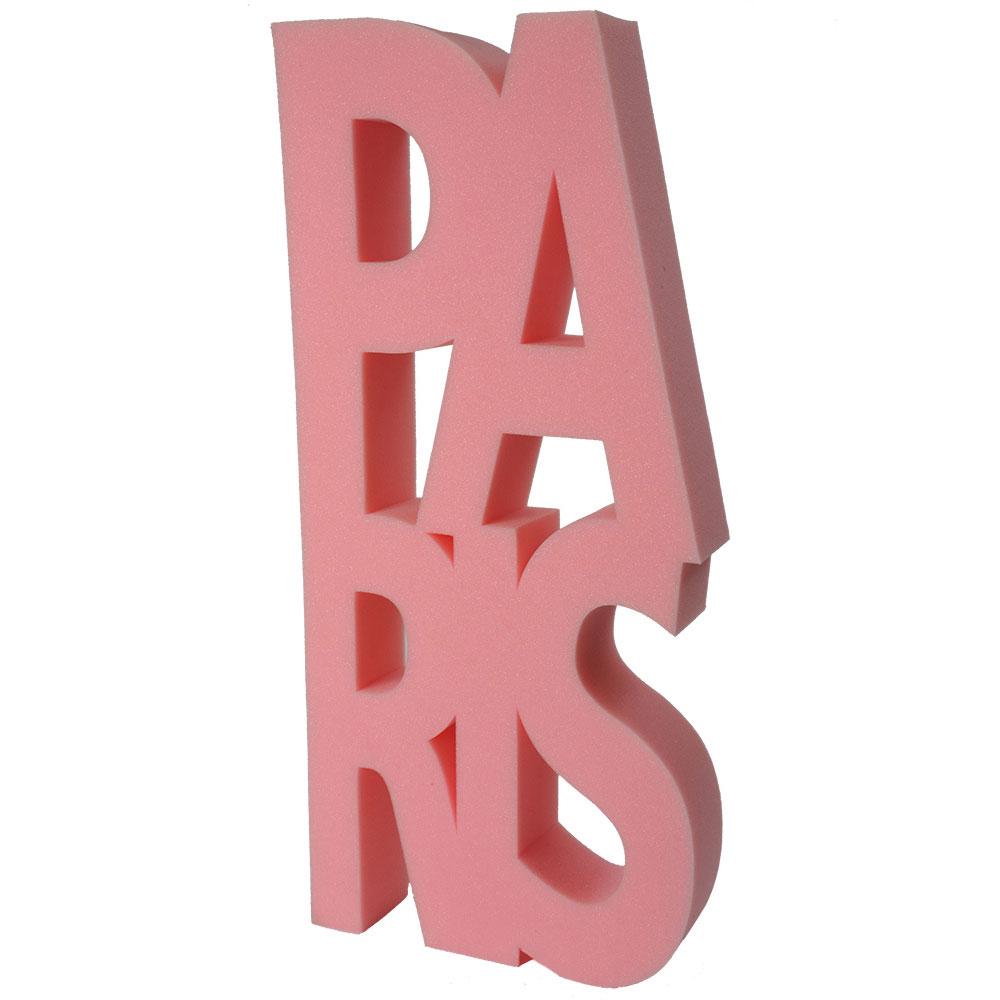 deco mousse Paris en lettres roses