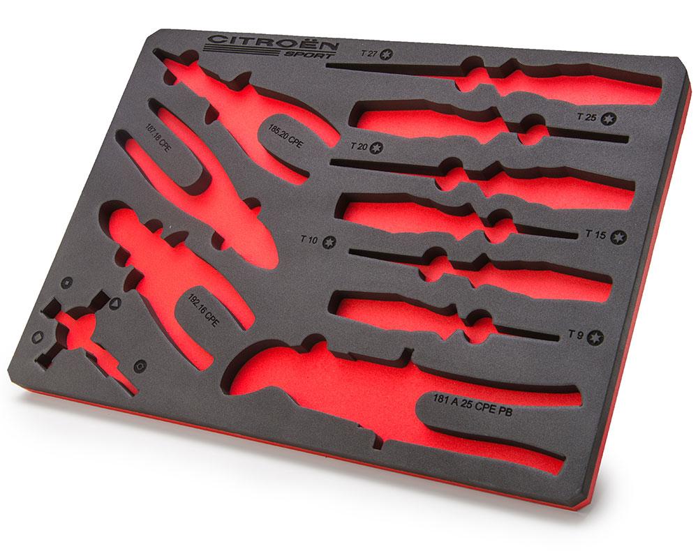 mousse de rangement outils