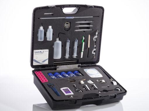 Mousse valise d'analyses et tests chimiques, secteur médical