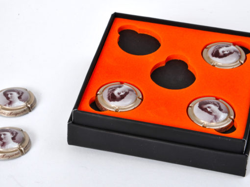 Mousse calage objet promotionnel : capsule de champagne