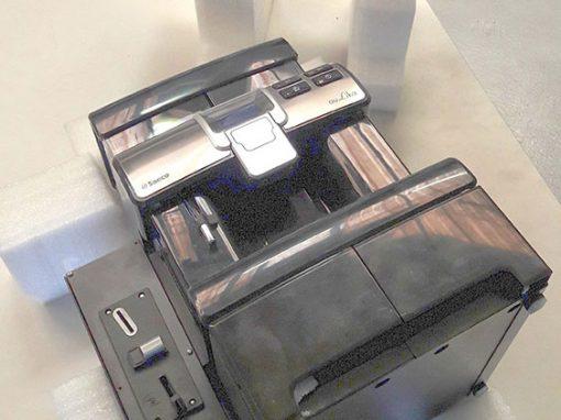 Carton équipé de mousse découpée sur mesure pour transport machine à café