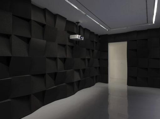 Création d'un mur en mousse pour une galerie d'art
