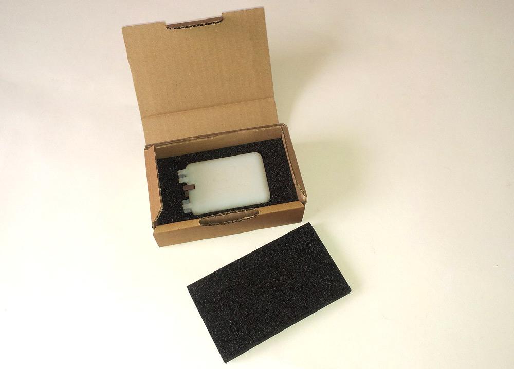 emballage carton mousse pour envoi d'un filtre