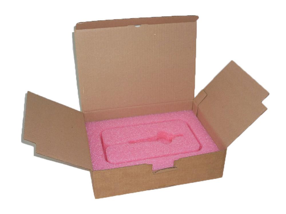 Emballage carton et mousse antistatique PE multilames