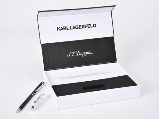 Mousse coffret luxe de présentation d'un stylo et d'une clé USB