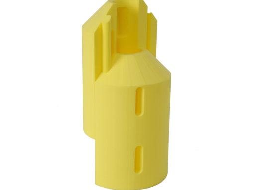 Pièce technique en mousse PE jaune