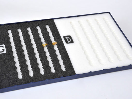 Plateau en mousse plastazote bicolore pour organisation atelier