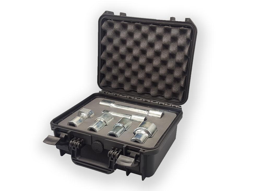 Petite valise démonstration commerciale pour des écrous