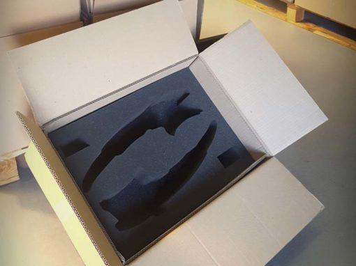 Mousse de calage pour emballage carton