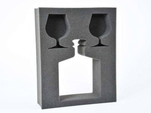 Mousse de calage polyuréthane pour protection verres