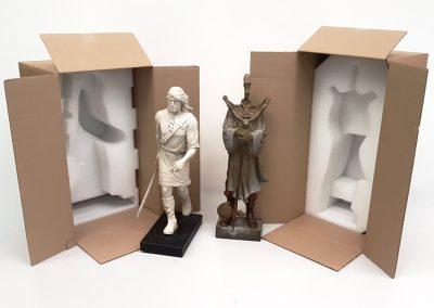 mousse-antichoc-et-carton-pour-proteger-envoi-sculpture-thorgal-et-le-rige