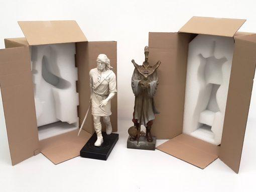 Mousse antichoc avec carton pour protéger Thorgal et le Rige