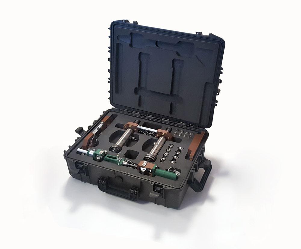 pièces techniques pour le nucléaire dans valise noire