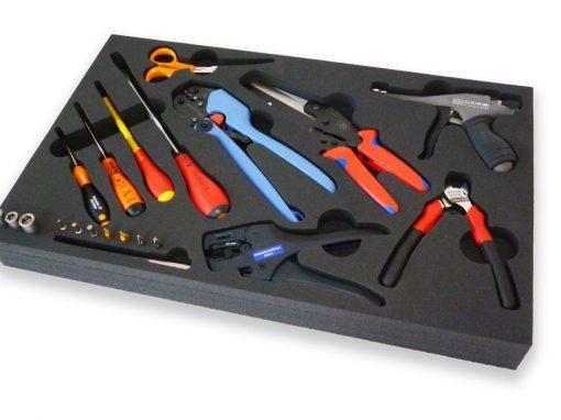 Mousse rangement sur mesure pour outils