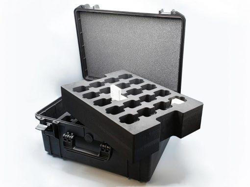 Mousse valise rangement pour un institut de recherche