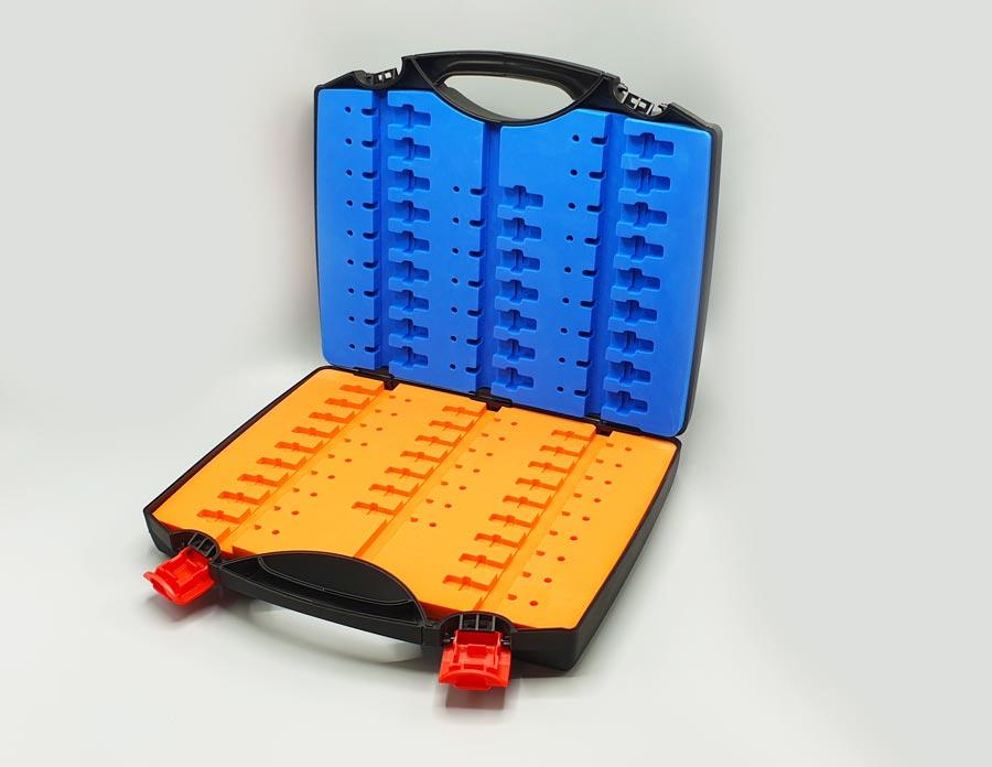 mallette à outils avec mousse rigide bicolore
