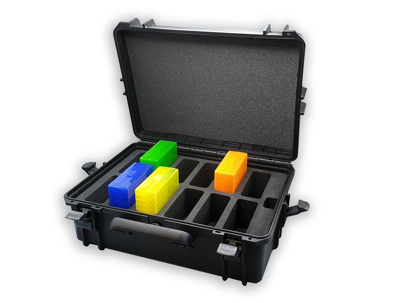 valise de présentation commerciale avec mousse et boites