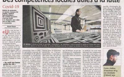 Article de l'Yonne Républicaine sur nos visières protection