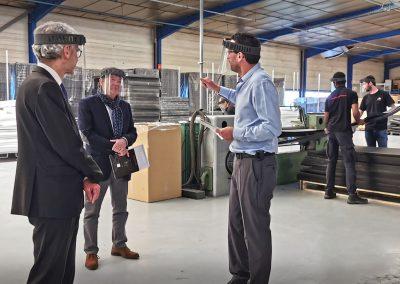 Visite préfet de l'Yonne fabrication visières anti-projections
