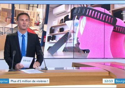 reportage France 3 sur les visières de protection JPJ Mousse
