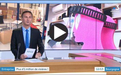 Reportage de France 3 Bourgogne sur nos visières de protection