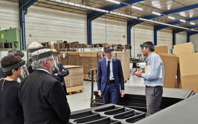 Le député de l'Yonne et les élus visitent la fabrication des visières de protection JPJMask