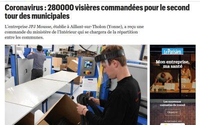 Article du Parisien sur nos visières de protection
