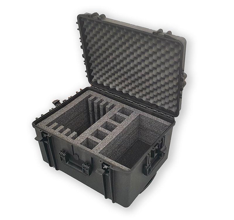 Valise avec mousse sur mesure pour protéger du matériel informatique