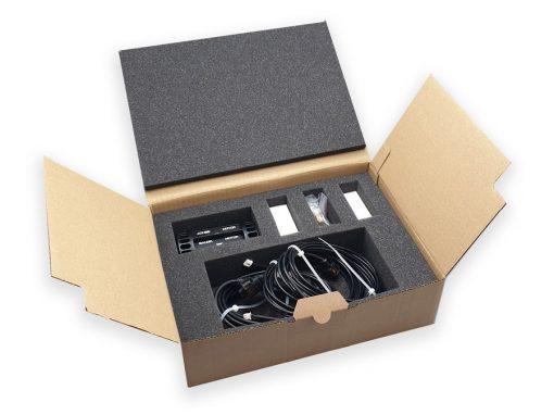 Packaging carton et mousse de calage pour l'électronique