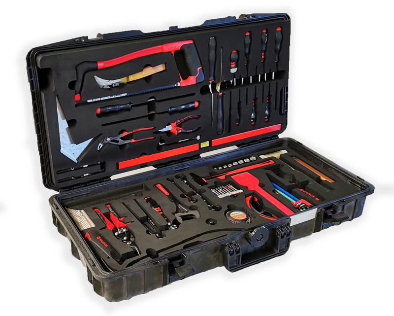 valise pour rangement outils avec mousse calage sur mesure